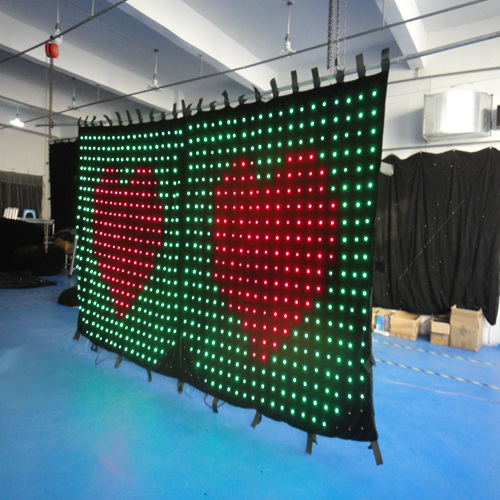 Excellent 4*2m Led curtain for disco laser stage light, wonderful backdrop for all kinds of show