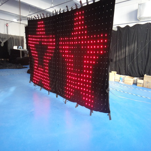 2m*4m 2pcs P100MM flexible stage effect led waterfall curtain