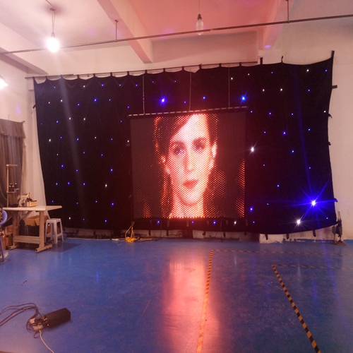 vision screen holiday party decoration 2m high by 3m width P30mm video backdrop led dj curtain