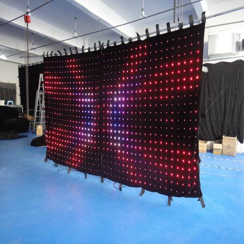 vision backdrop led dj stage video curtain