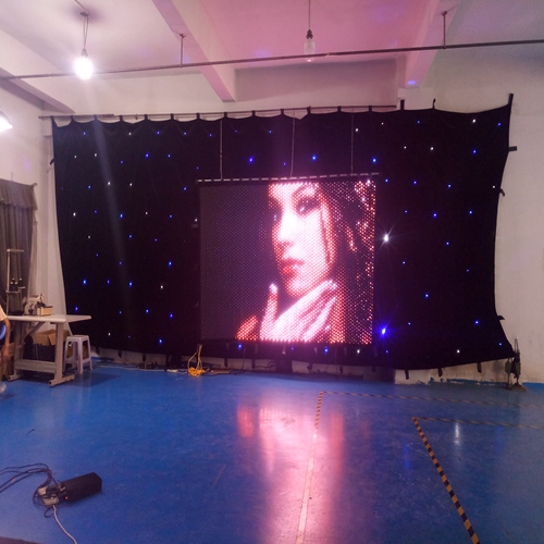 P30mm programmable hot show led video curtain 2*3m music stage backdrop