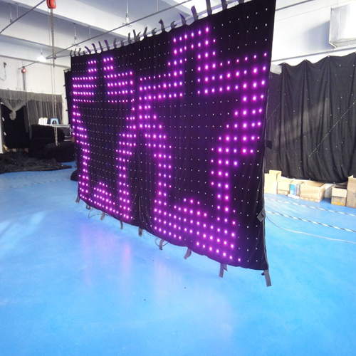 2*4m P10 programble image vision backdrop led dj stage video curtain