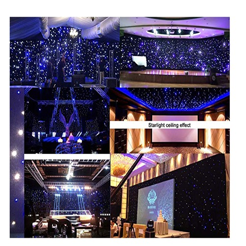 Blue and White Color LED star backdrop