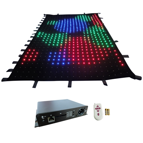 Free shipping 2*3m LED video cloth Christmas decorations party decorations P10