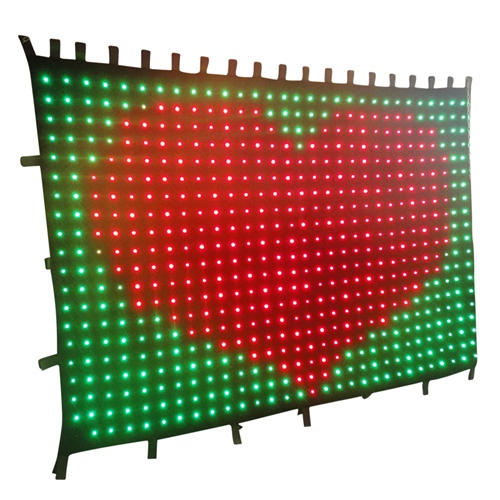 LED Video Curtain P10 LED Video Curtain Screen LED Backdrops for wedding nightclub 2m*3m