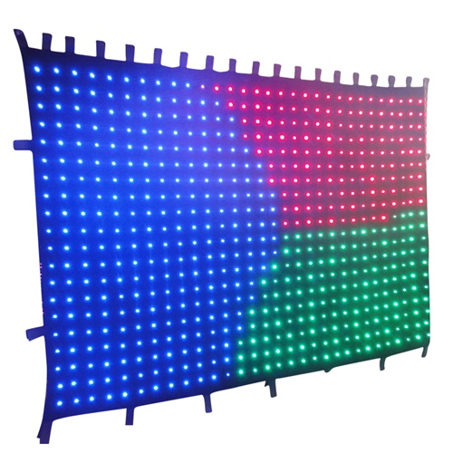 Free shipping FLYKO 2m*3m led video curtain led video cloth stage backdrop p10