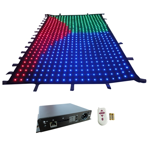 Free shipping p10 2m*3m led cloth China video panel display