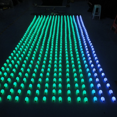 3x4m New idea of led pixel ball for DJ background decoration