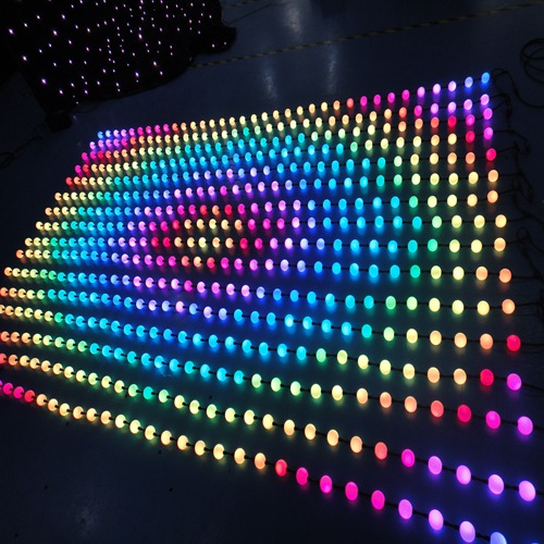 3D effect led pixel string rgb ball for decoration