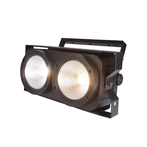 hot sale 2*100w 2eyes Cool White and Warm White 2in1 audience led COB1 light
