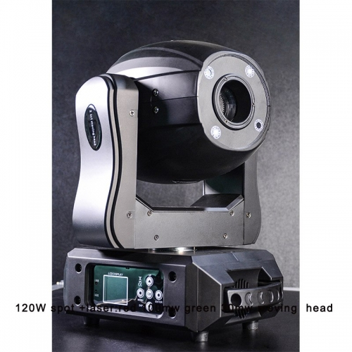 120W spot +laser:red 100mw green 30mw moving head