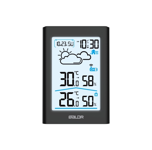 MULTI-FUNCTIONAL WIRELESS WEATHER STATION WITH BACKLIGHT