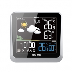 COLOR NEGATIVE DISPLAY WEATHER STATION WITH MOON PHASE