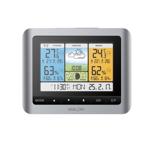WIRELESS COLOR WEATHER STATION WITH MOON PHASE