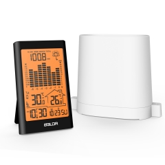 ORANGE BACKLIGHT WIRELESS RAIN GAUGE