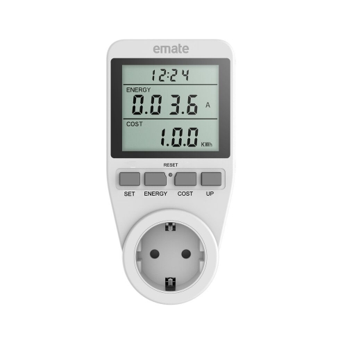 SINGLE TARIFF ELECTRICITY MONITOR POWER METER SOCKET