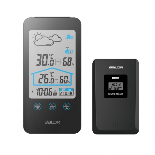 TOUCH BUTTONS LCD WEATHER STATION WITH MOON PHASE