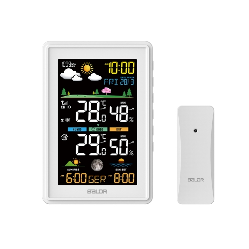 COLOR WEATHER STATION WITH SUNRISE/SUNSET