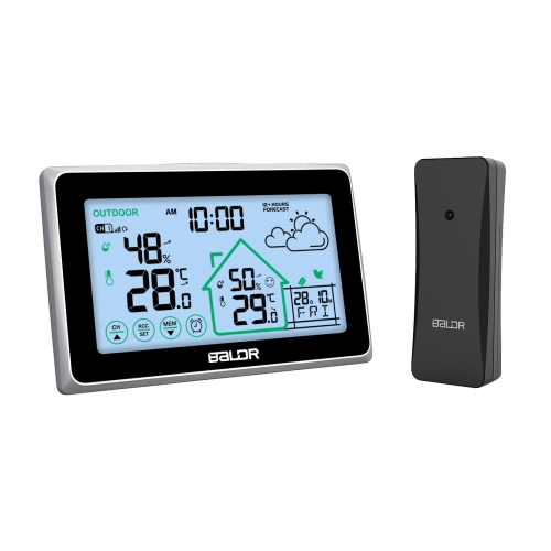 TOUCH SCREEN WIRELESS WEATHER STATION WITH REMOTE SENSOR