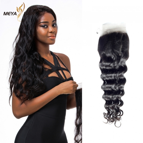 Meya 100% human 13*4 lace Frontal loose wave Brazilian factory price