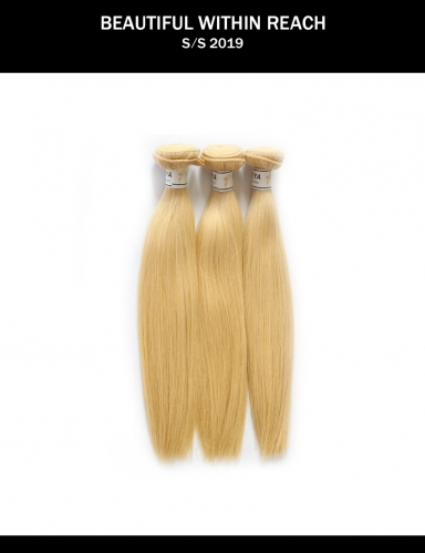 Meya cheap Brazilian cuticle aligned remy human hair bundles 613 virgin hair straight.