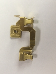 Stamping brass contacts
