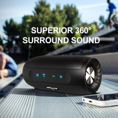 Portable Bluetooth Speakers Zealot S16 Wireless Speaker 20W Loud Stereo Bass Splashproof IPX4 Charger 4000mAh Battery 20H Playtime Hand Free Speakerph