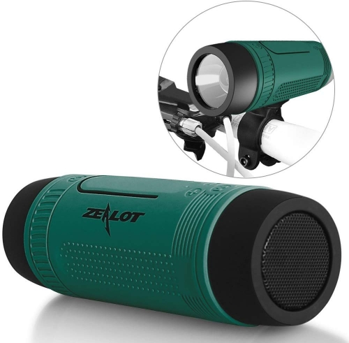 ZEALOT S1 Portable Multifunction Wireless Bluetooth Speaker, Support Mobile Power Bank, Microphone, Emergency Torchlight, FM Radio & TF Card Function