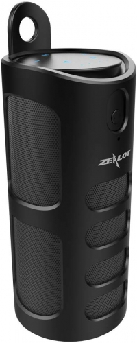 ZEALOT S8 Portable Wireless Bluetooth Speaker with Silicon Sling Cover, Supports TF Card Music Playing and 5V USB Power Output (Black)