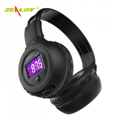 ZEALOT B570Wireless Bluetooth Foldable Headphones with FM Radio LCD Screen Headset Support TF card black