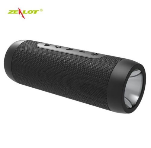 Zealot S22 Mini Portable Wireless Bluetooth Speaker with Flashlight+Power Bank,support TF card black 3w one size