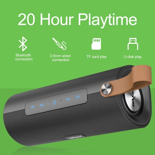 ZEALOT S30 Bluetooth Speakers, Portable Wireless Stereo Loud Crystal Clear Sound and Bass,20 Hours Playtime, Bluetooth 5,Microphone,Wireless Speaker f