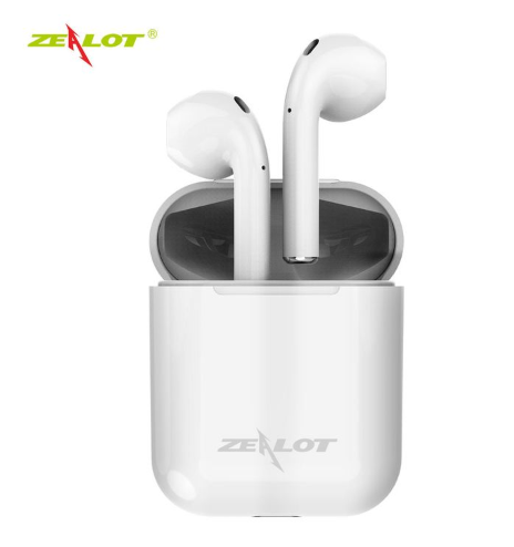 ZEALOT H20 TWS Mini Bluetooth Earphone 5.0 in ear Wireless Bass Stereo Earbuds with Charging Box white