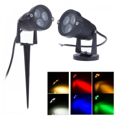 3W AC100-240V/DC12V High Power LED Garden Light Lawn Lamp with Spike/Base IP65