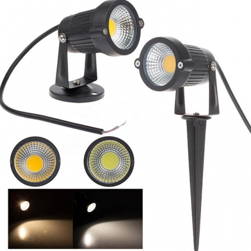 3W/5W AC100-240V/DC12V COB LED Garden Light Lawn Lamp with Spike/Base IP65