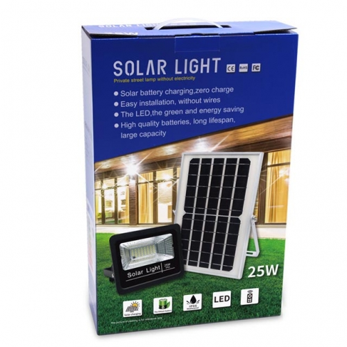 25W SMD Solar LED Floodlight Flood Light Lamp with Remote Control IP66