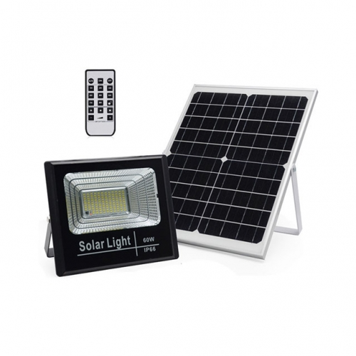 60W SMD Solar LED Floodlight Flood Light Lamp with Remote Control IP66
