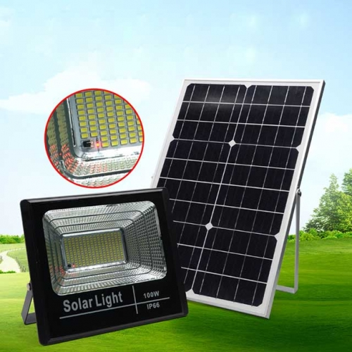 100W SMD Solar LED Floodlight Flood Light Lamp with Remote Control IP66