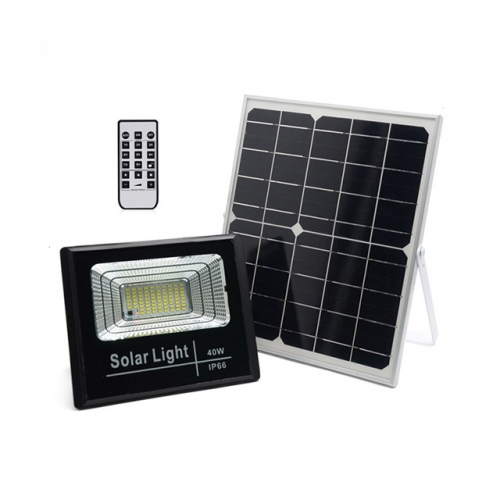 40W SMD Solar LED Floodlight Flood Light Lamp with Remote Control IP66