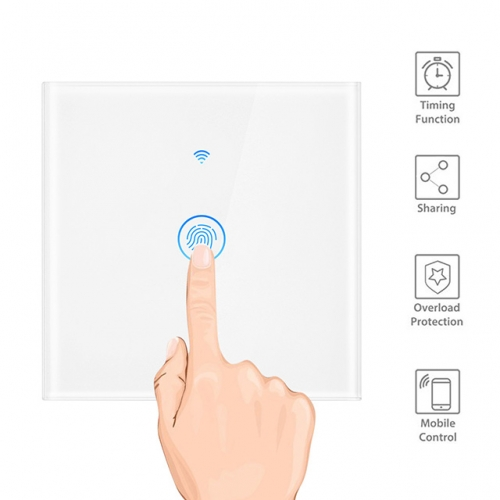 1/2/3 Gang Smart Wifi Wall Switch Compatible with Amazon Alexa / Google Home for UK EU Mobile App Voice Control