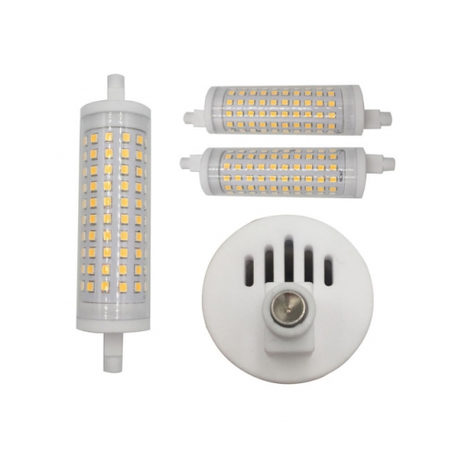 15W AC85-265V J118mm Ceramics SMD2835 LED R7s Bulb Light Lamp clear/milky lampshade dimmable