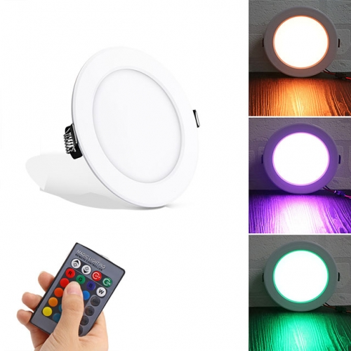 5W/10W AC85-265V RGB Color Changing SMD5730 LED Panel Light Recessed Ceiling Light