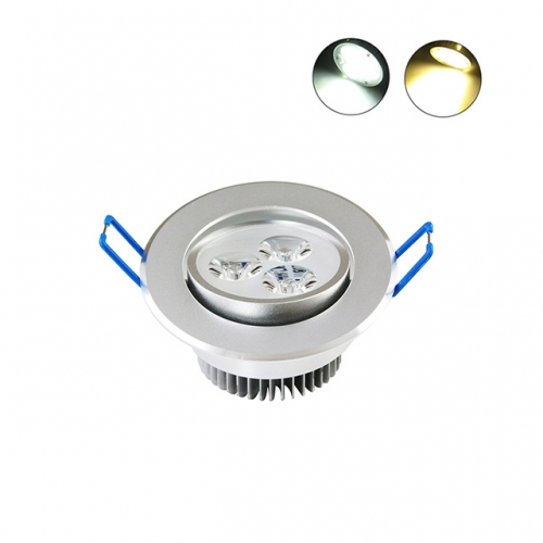 3W AC100V-245V LED Recessed Ceiling Light Dimmable View Angle Adjustable
