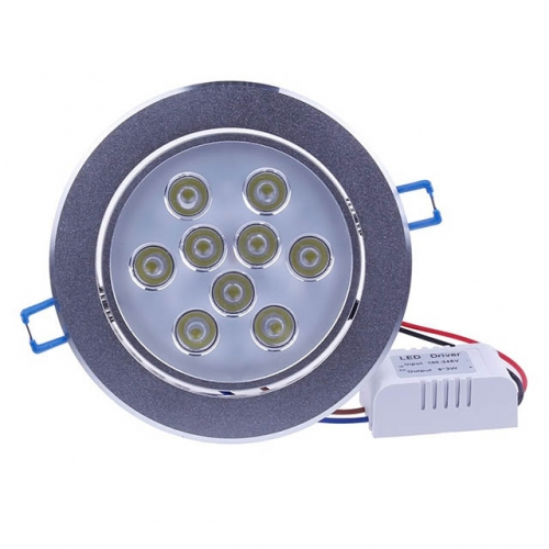 9W AC100V-245V LED Recessed Ceiling Light Dimmable View Angle Adjustable