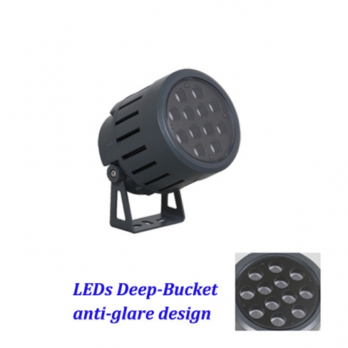 36W AC100-240V/DC24V 2700K-6000K, 36W/48W DC24V 4in1 RGBW DMX512 LED Floodlight Outdoor Luminaires IP65