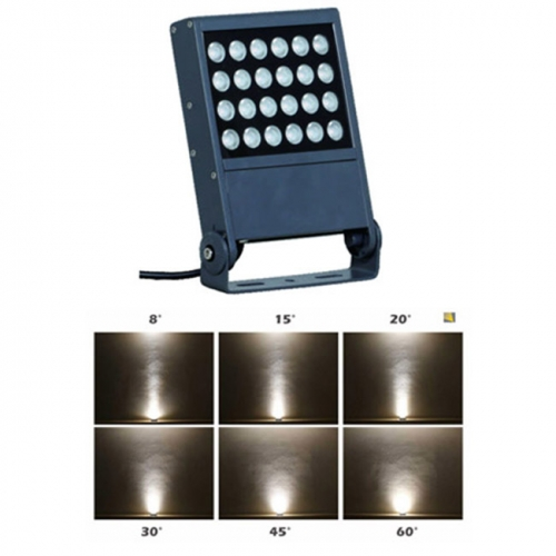 24W AC100-240V/DC24V 1800K-6000K, 48W DC24V RGBW DMX512 CREE LED Floodlight Luminaires Tree Building Lighting IP65