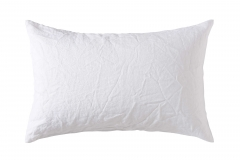 white standard linen pillowcase