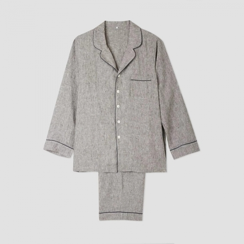 Mens linen pajama set