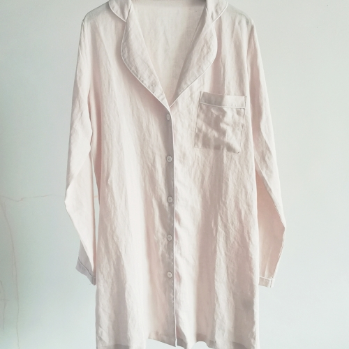 Linen women night shirt