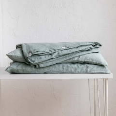 Sage linen duvet cover set